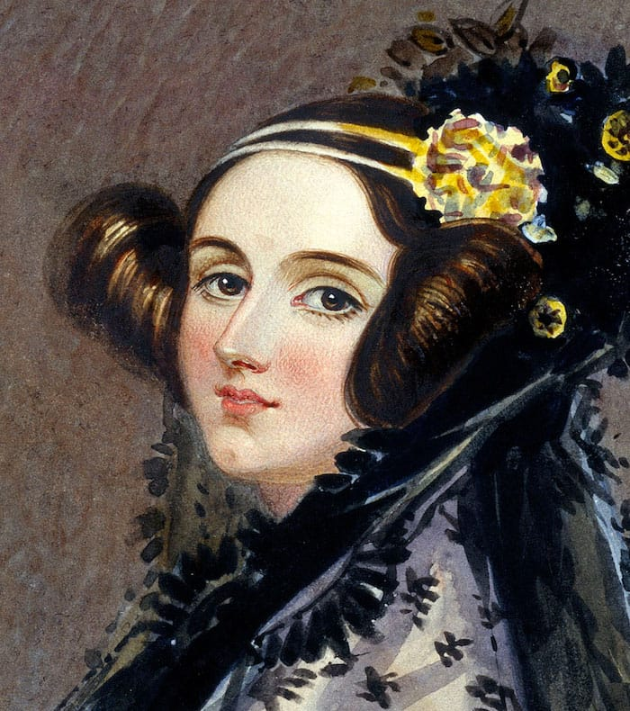 Photo - Watercolor portrait of 1st programmer Ada Lovelace