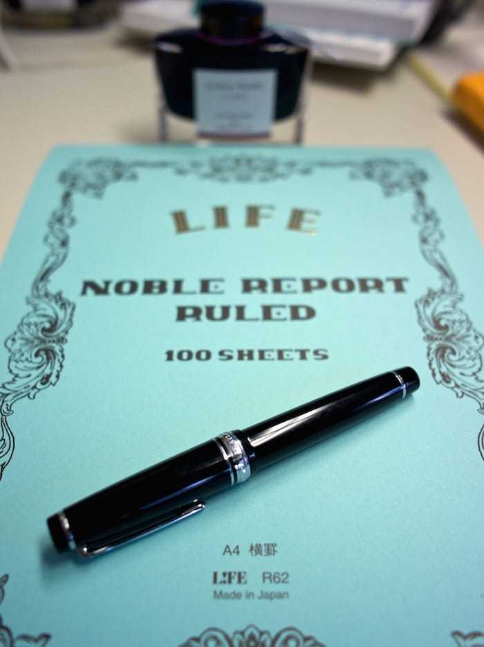 Photo of a Noble Note with Sailor Fountain Pen, by Rick Cogley