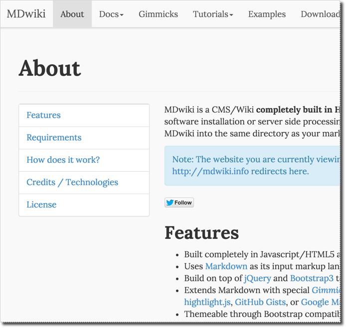 Screenshot - Mdwiki's web page